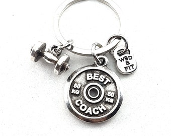 Gym KeyRing Shoulder Workout gift - Bodybuilding -Fitness Gift - Motivation Gift - Weight Lifting - Sport gift - Gym Thank - Gym - Wod & Fit