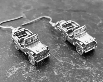 Earrings Off road Lovers Wrangler- 4x4 Gifts For Her- Girl Power- 4x4 Offroad Rubicon  CowGirl gift - Cars Earrings - TJ - YJ - CJ - Jl