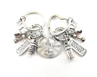Custom Couple Keychain I Love My LifeYou & Me Always Together - Workout Gift - Gym Boyfriend - Gym Girlfriend - Couple Gift - love gift -Gym