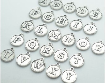 Letter charms - Initial letter 12mm - Add On Initial Charm - letters Bracelet - letters charm - letters - necklace charm - alphabet letters