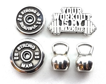 Gym Magnets Motivation Weigth Plate - Gym Gift -Workout Gift - Body building-fitness magnet- Gym decor - Gym Quotes-Crossfit Gift -Wod & Fit