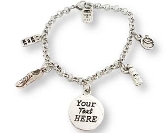 Bracelet Running Life Runner Shoe Motivational Gift for Runner - Custom Bracelet - Custom Fitness Bracelet - Runner Bracelet - Running Gift