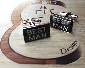 Cufflinks Best Man/ Play Hard Work Hard/ Don't Worry Be Happy Coach Gift, Motivational, Bodybuilding,Dad Gift,Father Gift,Fitness,Sport Gift