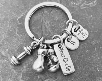 Boxing Gloves Keyring - Motivation Boxing Gifts - Love Boxing - Boxing Coach Gift - Boxing Team Gift - Boxing Glove UFC -MMA - Wod & Fit