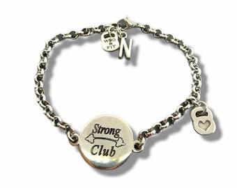 Motivation Custom Fitness Girl Bracelet - Gym Gift - women bracelet - Initial Bracelet- Gym Bracelet -Personal Trainer- Fit Mom -Wod and Fit