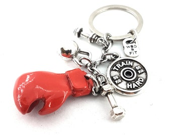 Boxing Glove Elite Keychain,Motivation Jewelry,UFC,MMA,Boxing Jewelry,Fight Gift,Boxing Coach Gift,Glove,Kick Boxing,Boxing Lovers,Wod&Fit