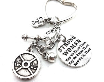 Keychain FitMom Fit 25 Workout Weight Plate Initial Fitness Jewelry,Motivational Word,Gym Gift,mom Gift,Bodybuilding,Cross fit mom,Fitmom