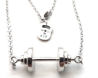 Barbell Necklace Grace Workout,Fit Girl,Fitness Jewelry,Gym,Bodybuilding Jewelry,Fitmom,Fit girl,Crosstraining,Weight lifting,Wod and Fit