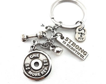 Keychain ONE MORE REP Gym gifts - Workout Gift - Motivation Gift - Exercise gift - lifting gifts -fitness gifts - Trainer gift Wod & Fit