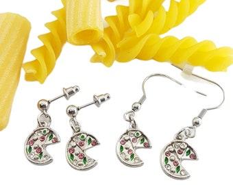 Earrings Love Pizza - Earrings Pizza - Pizza Jewels -Pizza Earrings- Pizza Jewelry - Foodie Lovers - Pizza Lovers Earrings - Pizza Gift