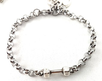 Gym Bracelet Dumbbell Workout Gifts - Sport Gift -Bodybuilding - Fitness Gifts - Unisex Bracelet -Gym Gifts - Crossfit Bracelet - Wod & Fit