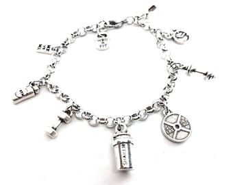 Bracelet Fitness Life Motivation Jewelry Bodybuilding - Fit Girl - Fitness gift - Women bracelet - Fitmom - Gym Gifts - Crossfit Girl Gift