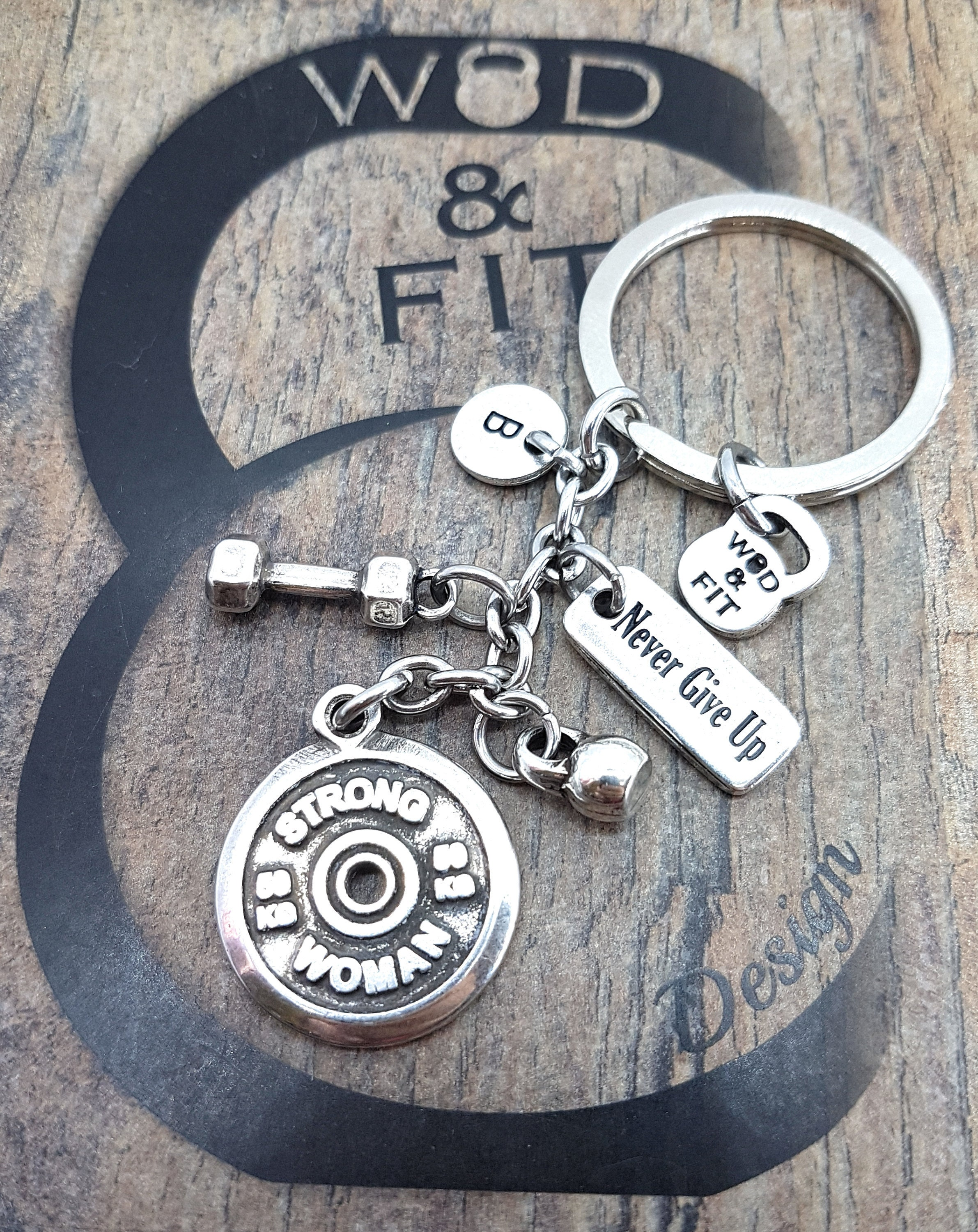 Weight Plate Keychain Fitplate Strong Womandumbbell Motivation