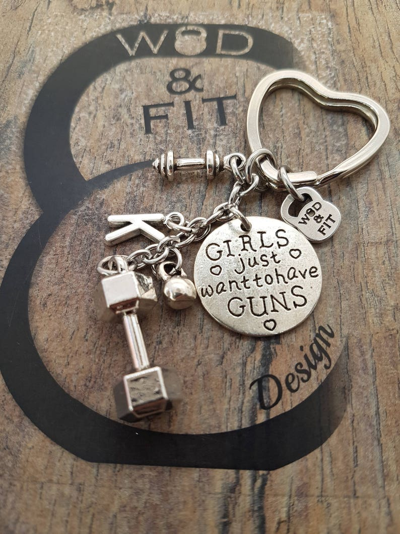 Keychain Fit Woman Dumbbell Workout Kettlebell,Barbell,Joyas Fitness,Gym Gift,Bodybuilding,Fit Mom,Sister Gift,Crossfit Gift,Fitness Girl