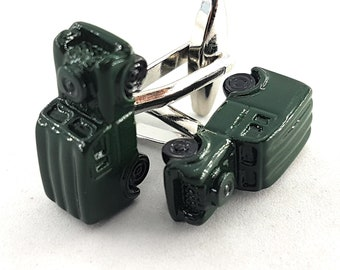 Old Offroad Cufflinks 3D Green Accessories -Off Road Gift - Gifts For Her - Defender- Wedding Gift - 4 x 4 Off Road - Men's Cuff Links