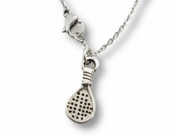 Necklace Padel Small Padel Pad Gift for Padel Lover- Padel gift -Gift for Padel -Padel Tennis Woman - Paddle tennis Gift- Woman Earrings