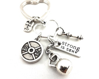 Fitness Girl Gift Keychain Cindy Workout Gifts -Custom gift -Gift for Girl -Gym gifts -Mom Gift- bff gift -gift for her -wife gift-Wod & Fit