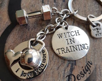 Fitness Keychain I Love You More Gym Gifts - Workout gift -Motivation Gift - Bodybuilding - Motivational Gift - Bff Gift - Fit Girl -Fit Mom