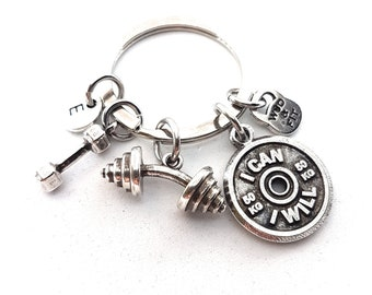 Gym Keyring Thruster Workout Gift  - Gym Gifts - Fitness Gifts - Bodybuilding Gift - Weight lifting - Crossfit - Motivation Gift -Wod & Fit