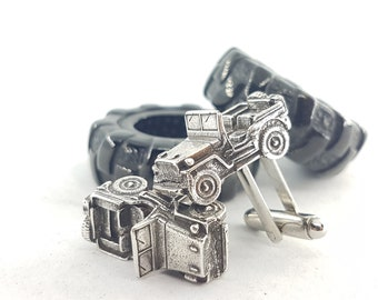 Cufflinks Off-road 4x4 Willys - Accessories Offroad Gift - 4x4 Gifts For Her -  Wrangler - Rubicon - Wedding- Off Road - Car Cufflinks gift