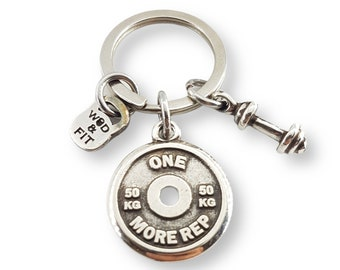 Gym Keychain Ricky Workout Gift - Motivation Weigth Plate - Bodybuilding - Fitness Gifts- Weightlifters - Sport gift - Gym Gifts - Wod & Fit
