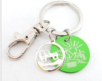 Keyring I Love Travel 4x4 OIIIIIIO - Jeep Girl -  Wrangler -Jeep Lovers- Jeep Gifts - Jeep Keychain - Jeep Girl Gift - Jeep Gift- Land Rover