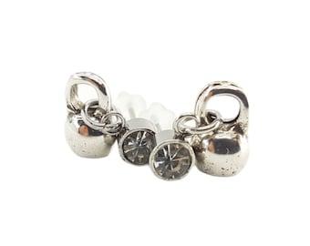 Earrings Fitness Weight Crystal - Gym Earrings - Bodybuilding Gift - Fitness Earrings - Kettlebell Earrings - Crossfit Girl Earrings-Wod&Fit