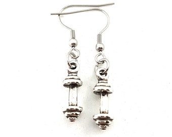 BARBELL EARRINGS - Workout Gifts - Fitness Earrings - bff gift -Fitness gifts - Strong Mom - Gym Girl - girl power -Gym Mom - Wod & Fit Gift