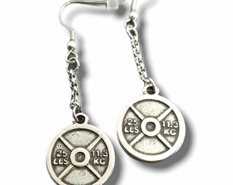 Earrings Snatch Workout.Fitness Gym,Bodybuilding Jewelry,Dumbbell,Fitmom Motivational Gift FitGirl Sport Fitness Jewelry Crosstraining Coach