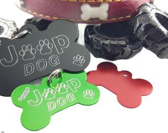 Bone dog tag Jeep Dog - Pet tag - Custom dog tags - Coordinates - Jeep Dog - Tag for Dogs - Dog ID Tag - Pet Gifts - Pet id tag - custom dog