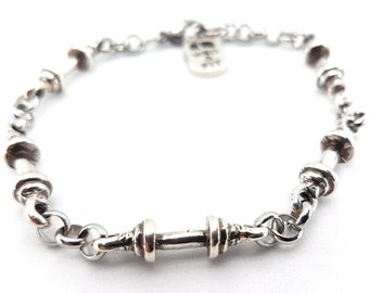 Barbell Bracelet Gym Gift - Workout Gifts - Bodybuilding - Fitness Gifts -Trainer Gift- Weight lifting-Sports gifts-Exercise Gift-Wod & Fit