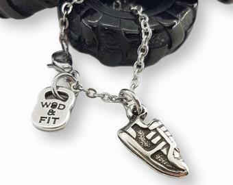 Runner Necklace Runner Shoe Flat - Gift for Runner - Running Necklace - Motivational Gift - Jewels for Love Runner -Necklace for Runner Gift
