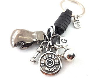 Boxing Glove Dark BROWN Leather Keychain Boxing Challenge,Motivation,Boxing Lover Gift,Initial.Boxing jewels,Boxing Gift,UFC,MMA,Love Boxe