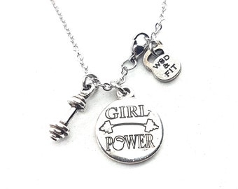 Necklace Barbell Motivational Workout.Custom Gift,Fitness Jewelry,Bodybuilding,Custom Jewelry,Gym Gift,Personalize Necklace,Crossfit Gift