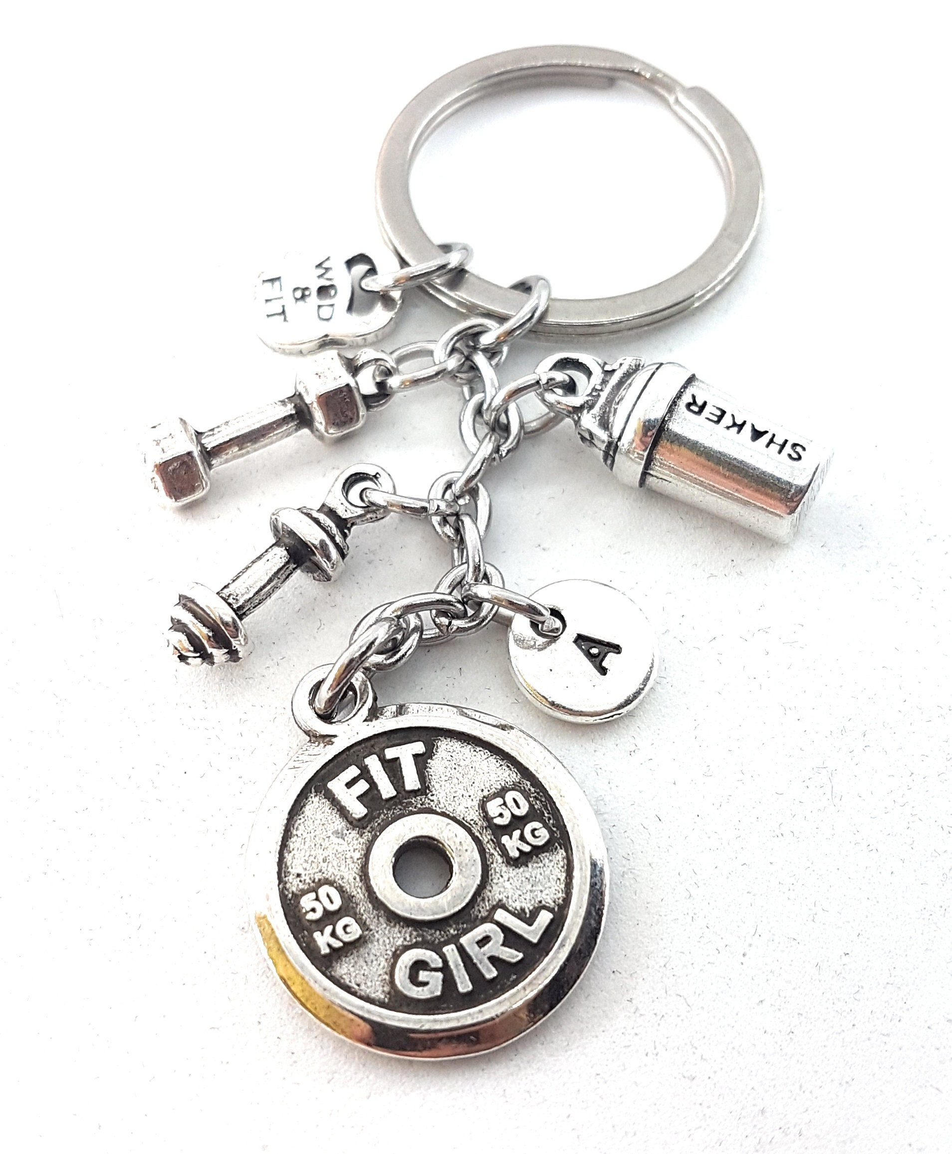 BELIEVE Fitness Gift Bodybuilding Keychain Jewelry Weight Lifting Personal Trainer Crossfit Kettlebell Gym Workout Motivational
