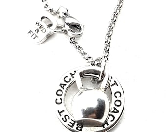 Kettlebell Necklace Ring Dips Motivation Workout Jewelry,Fitness Jewelry Bodybuilding,Sport jewelry,FitMom,Fit Girl,Kettlebells,Gym Gift,Wod