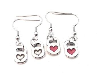 Earrings Kettlebell Heart Workout Motivation Gym,Bodybuilding,Fitness Gift,Fitmom,Crossfit Girl,Fitness Jewelry,Gym Gift,Motivational Gift