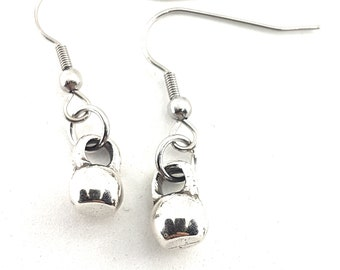 Kettlebell Fitness Earrings -Gym Gifts - Workout Gifts - Bodybuilding - Fit Girl - Fit Mom - CrossFit Girl Gift  - Fitness Gift- Bff Gifts