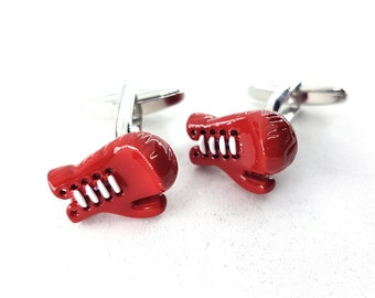 Boxing Gloves Cufflinks.Boxing Jewelry Coach Gift,Motivational,Gym,Dad Gift,Father Gift,Bodybuilder,Sport Cufflink,Wedding,Boxing Gift