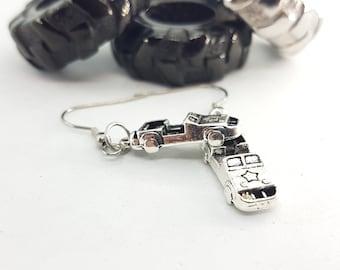 Earrings 4x4 line Offroad Lovers OIIIIIIO - 4x4 Accessorios -Earrings Off Road - 4x4- Wrangler - Rubicon - Willys - JeepGirl JK