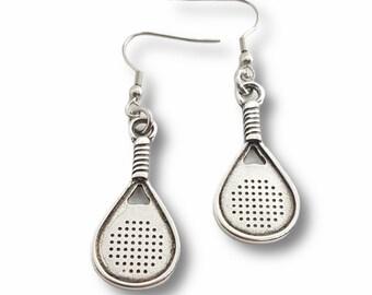 Padel Earrings Padel Tennis Gift for Padel Lover -Gift for Padel -Padel Tennis Woman -Paddle tennis Gift- Padel Pendant - Wod & Fit
