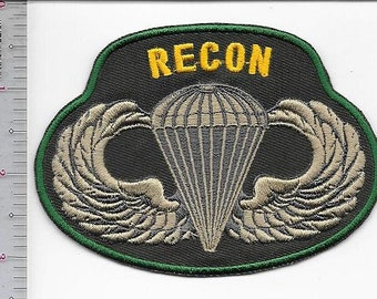 US Army 18th Airborne Corps RECONDO School Qualification OD green award patch