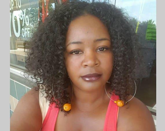 CUSTOM ORDER: Human Hair Blend Afro Kinky Upart Wig!!