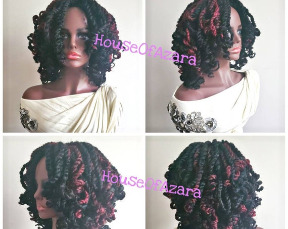 READY TO SHIP: Custom Twisted Synthetic Crochet Wig