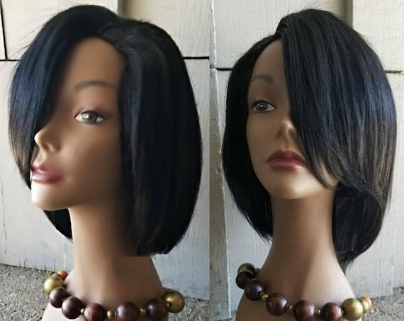 CUSTOM ORDER: 100% Virgin Remy Human Hair Bob Upart Wig
