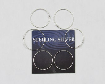 Pkg of 4 #30892 3 x 14 mm Sterling Silver Bail with Peg