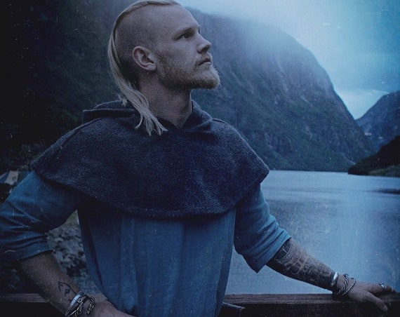 New! Viking Rounded Skjoldehamn Archer Oversized Hood, Garb, Historical, Norse, SCA, LARP, HEMA, Reenactment, Medieval, Renaissance, Wool