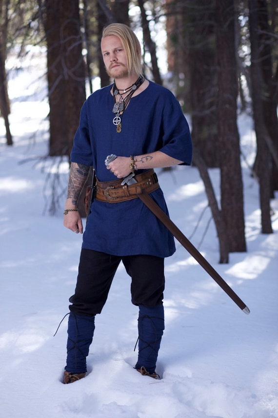 Linen Viking Tunic. Perfect garb for Norse, SCA and LARP Reenactment