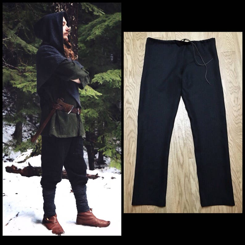 Linen Viking Trousers  Perfect garb for Norse, SCA and LARP Reenactment