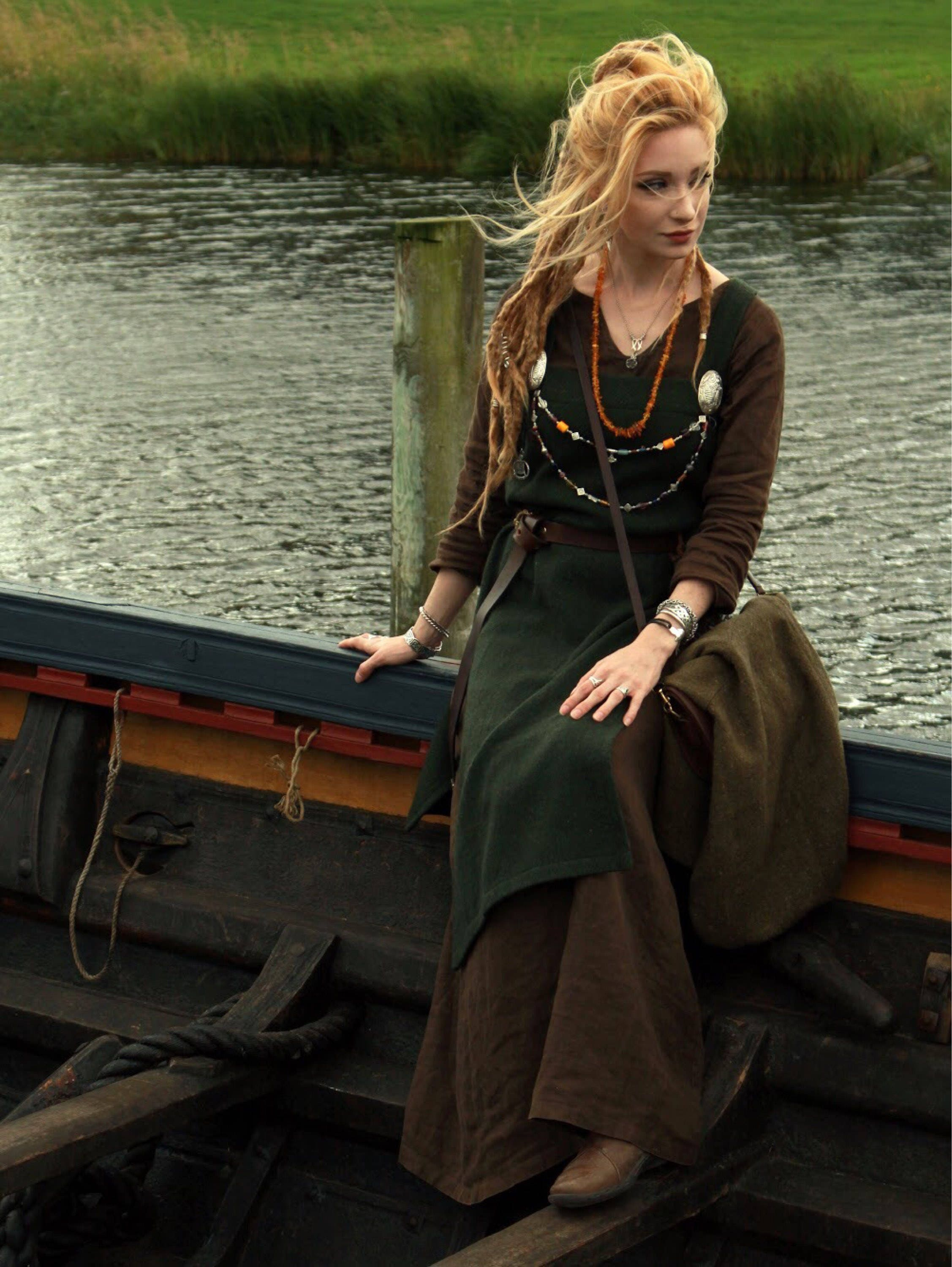 b7d88132d4d Viking linen or wool Hangerock Apron Dress with open sides. Perfect garb  for Norse